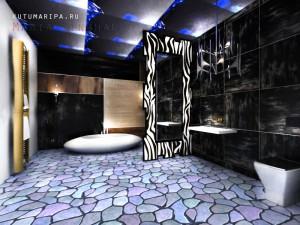 Коттедж в Марокко. Ванная комната